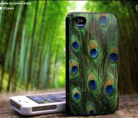 Peacock Feathers - Case For iPhone Case, iPhone 4, Case, iPhone 4S, iPhone 5, Hard Cover