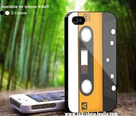 cassette tape orange - MR - Case For iPhone Case, iPhone 4, Case, iPhone 4S, iPhone 5, Hard Cover